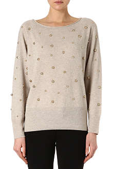 JUICY COUTURE Studded polka-dot jumper
