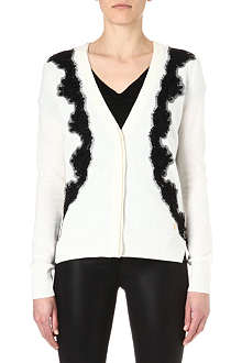 JUICY COUTURE Lace-detailed cardigan