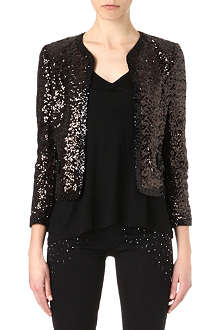JUICY COUTURE Cropped sequin jacket