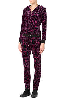 JUICY COUTURE Leopard-print velour jumpsuit