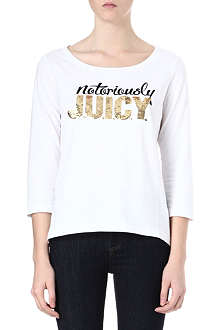 JUICY COUTURE Notoriously Juicy cotton t-shirt