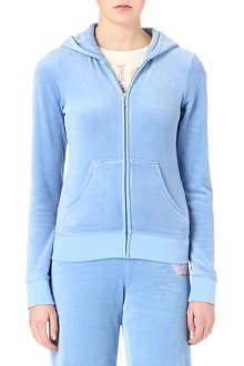 JUICY COUTURE Crown velour hoody