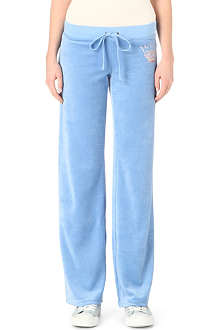 JUICY COUTURE Crown velour jogging bottoms