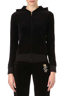 JUICY COUTURE Emblem velour hoody