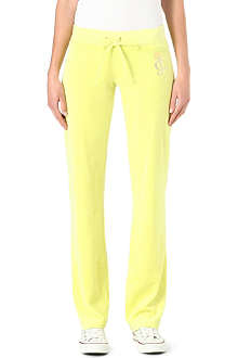 JUICY COUTURE Emblem velour jogging bottoms
