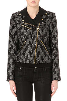 JUICY COUTURE Houndstooth biker jacket