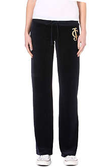 JUICY COUTURE Regal velour jogging bottoms
