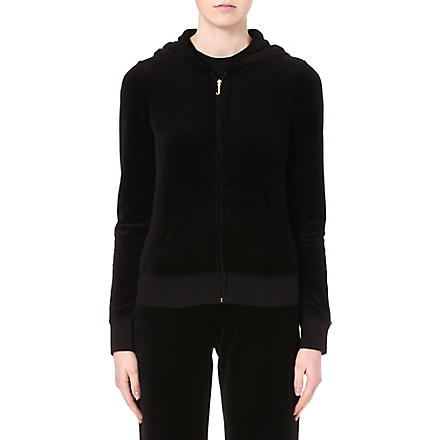JUICY COUTURE Neon studded hoody (Black