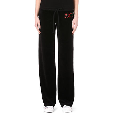 JUICY COUTURE Neon studded jogging bottoms (Black