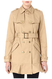 JUICY COUTURE Flared-hem trench coat