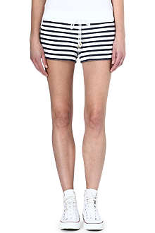 JUICY COUTURE Terry striped jersey shorts