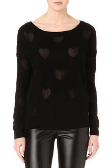 JUICY COUTURE Heart wool-blend jumper
