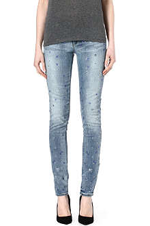 JUICY COUTURE Stevie Rhinestone skinny low-rise jeans