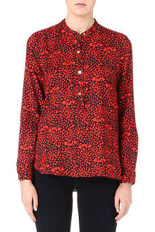 JUICY COUTURE Heart-print silk shirt