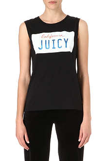 JUICY COUTURE License plate sleeveless top