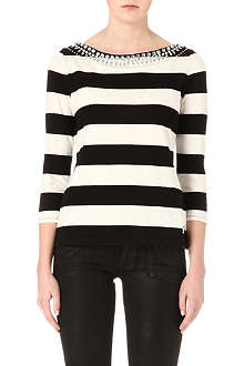 JUICY COUTURE Embellished striped top
