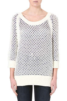 JUICY COUTURE Geometric open-knit pullover