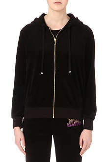 JUICY COUTURE Choose Juicy relaxed velour hoody