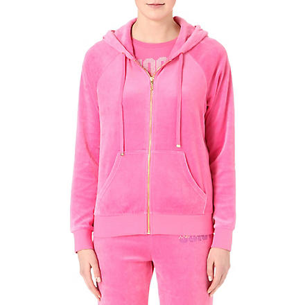 JUICY COUTURE Choose Juicy relaxed velour hoody (Highlighter