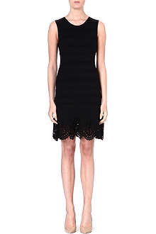 JUICY COUTURE Fitted black jersey dress