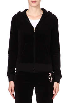 JUICY COUTURE Original Ornate velour hoody