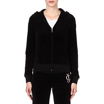 JUICY COUTURE Original Ornate velour hoody (Black