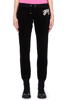 JUICY COUTURE Skinny velour jogging bottoms