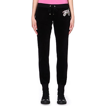 JUICY COUTURE Skinny velour jogging bottoms (Black