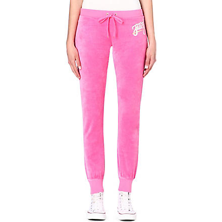 JUICY COUTURE Skinny velour jogging bottoms (Highlighter