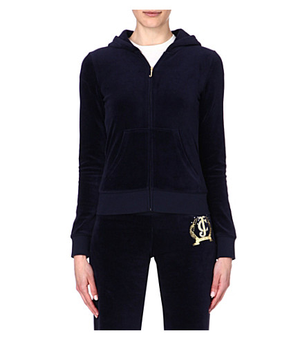 JUICY COUTURE Classic velour hoody (Regal