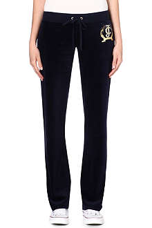 JUICY COUTURE Diamante velour jogging bottoms
