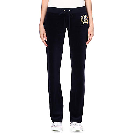 JUICY COUTURE Diamante velour jogging bottoms (Regal