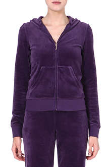 JUICY COUTURE Velour zip-through hoody