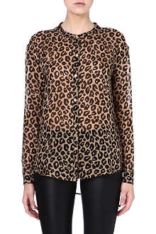 JUICY COUTURE Cheetah print silk shirt