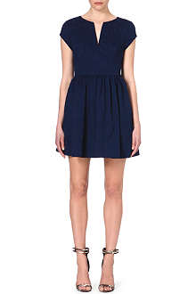 JUICY COUTURE Brocade split-neck dress