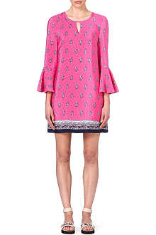 JUICY COUTURE Paisley fluted-sleeved dress