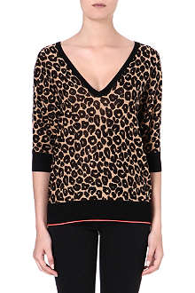 JUICY COUTURE Cotton-blend print sweater
