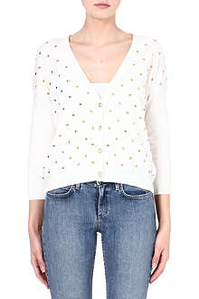 JUICY COUTURE Embellished cotton-blend cardigan