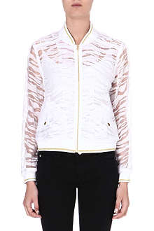 JUICY COUTURE Semi-sheer print jacket