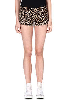 JUICY COUTURE Stretch-denim print shorts