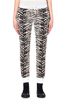 JUICY COUTURE Amazon tiger-print velour jogging bottoms