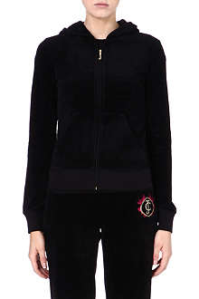 JUICY COUTURE Textured cotton hooded top
