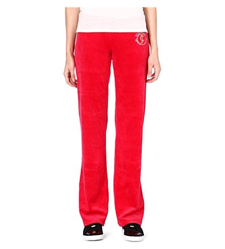 JUICY COUTURE Cotton-blend jogging bottoms (Poppy