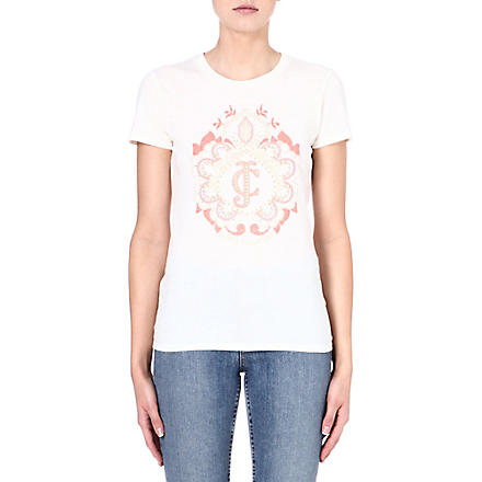 JUICY COUTURE Printed cotton t-shirt (Angel