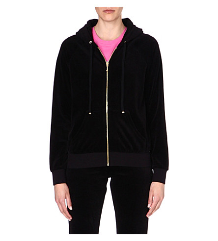 JUICY COUTURE Classic velour hoody (Black