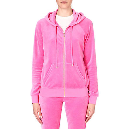 JUICY COUTURE Classic velour hoody (Highlighter