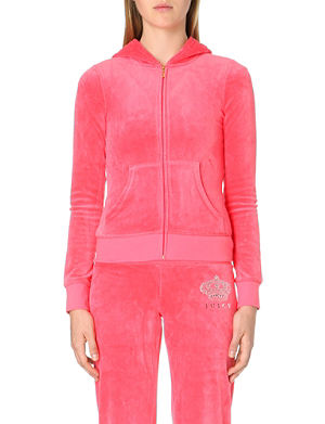 JUICY COUTURE Ornate velour hoody