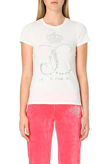 JUICY COUTURE Embellished logo t-shirt