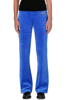 JUICY COUTURE Bootcut velour jogging bottoms