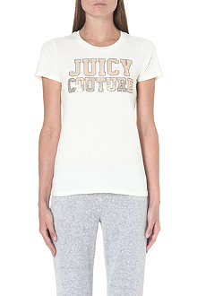 JUICY COUTURE Sequin-detail cotton t-shirt